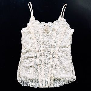 New Free People Cream Lace top!